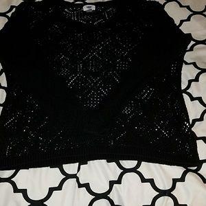 Old Navy black summer sweater. Size XL